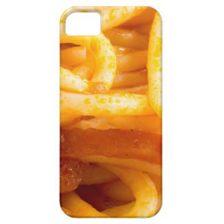 Detailed macro view on cooked spaghetti on a plate iPhone 5 cases
