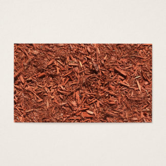 detailed mulch of red cedar for landscaper business card