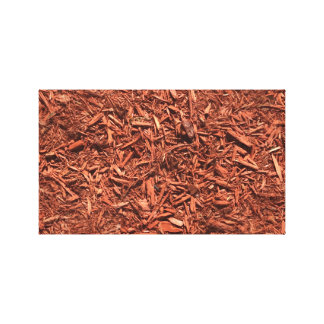 detailed mulch of red cedar for landscaper canvas print