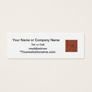 detailed mulch of red cedar for landscaper mini business card