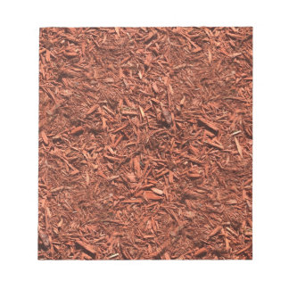 detailed mulch of red cedar for landscaper notepad