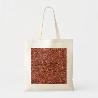 detailed mulch of red cedar for landscaper tote bag