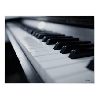Detailed Piano Keys 2 Poster