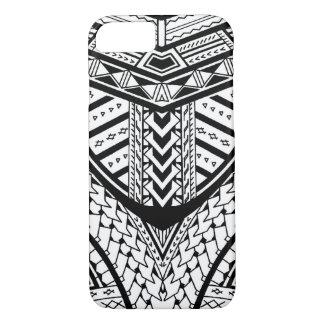 Detailed Samoan tribal tattoo pattern iPhone 7 Case