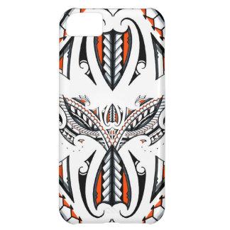 Detailed tribal maori polynesian orange pattern iPhone 5C cover