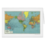 Detailed WWII World Map 1942 Greeting Card