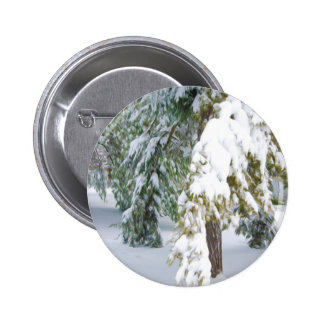 Details of heavy snow fall pinback buttons