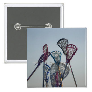 Details of Lacrosse game 15 Cm Square Badge