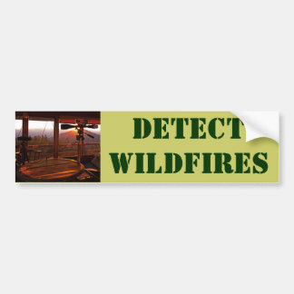 DETECT WILDFIRES BUMPER STICKER