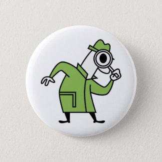 Detective 6 Cm Round Badge