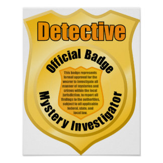 Detective Badge Poster