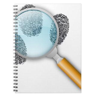 Detective Clues Find Finger Fingerprints Mystery Notebook