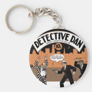 Detective Dan, A Story in Cartoons Basic Round Button Key Ring
