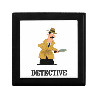 detective man small square gift box