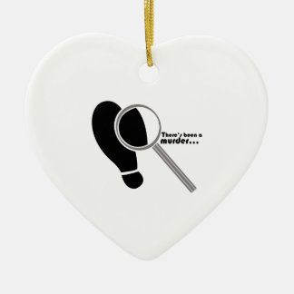 Detective Murder Ceramic Ornament