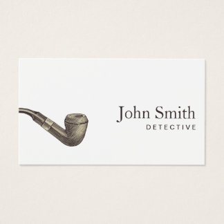 Detective Plain Retro Pipe Professional Business Card
