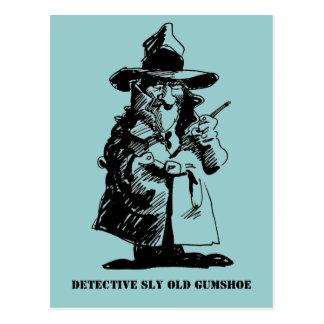 Detective Sly Ol Gumshoe Murder Mystery Sleuth Postcard
