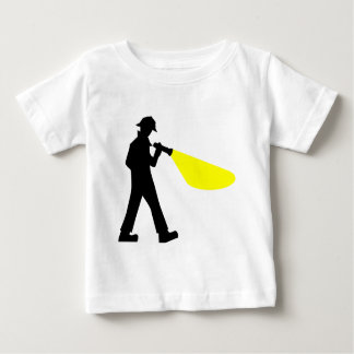 Detective with Flashlight Baby T-Shirt