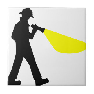 Detective with Flashlight Tile