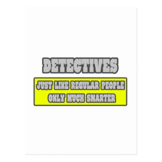 Detectives...Much Smarter Postcard
