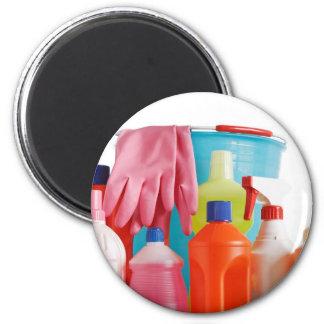 detergent bottles and bucket 6 cm round magnet