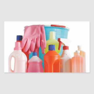detergent bottles and bucket rectangular sticker