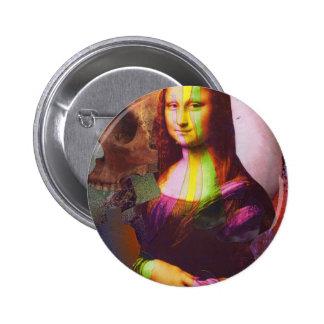 Deterioramento della Gioconda 6 Cm Round Badge