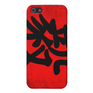 Determination in Traditional Chinese Calligraphy iPhone 5/5S Case