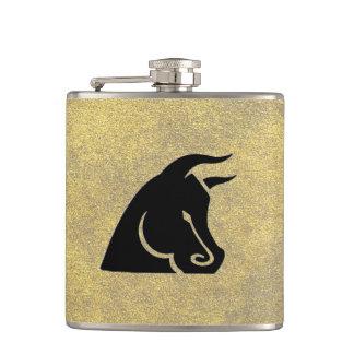 Determined Bull Flask