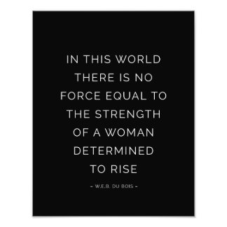 Determined Woman Inspirational Quote Black White Photographic Print