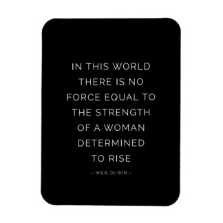 Determined Woman Inspirational Quote Black White Vinyl Magnet