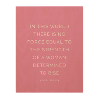 Determined Woman Inspirational Quote Pink Wall Art Wood Prints