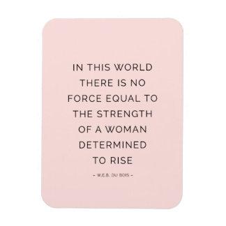Determined Woman Inspiring Quotes Pink Black Rectangular Magnet