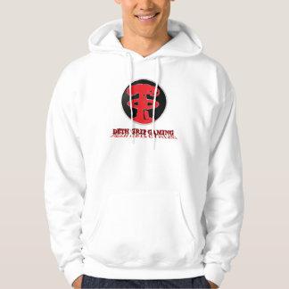 Deth Grip Gaming Red Logo on White Hoodie