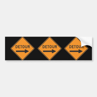 Detour Bumper Sticker 3-Pack