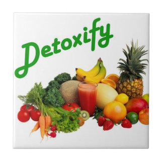 Detoxify Fruits and Vegetables Small Square Tile