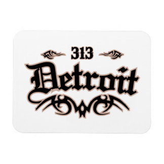 Detroit 313 rectangular photo magnet
