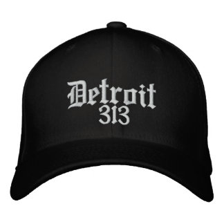 Detroit Area code 313 Embroidered Hat