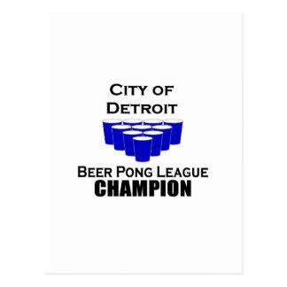 Detroit Beer Pong Champion Postcard