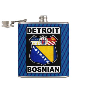 Detroit Bosnian American Hipflask Hip Flask