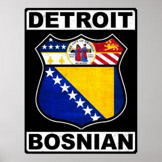 Detroit Bosnian American Poster Print