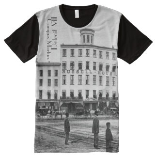 Detroit Campus Martius at Cadillac Square All-Over Print T-Shirt