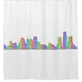 Detroit city skyline shower curtain