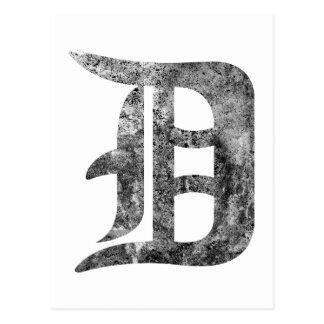 Detroit D wash Postcard