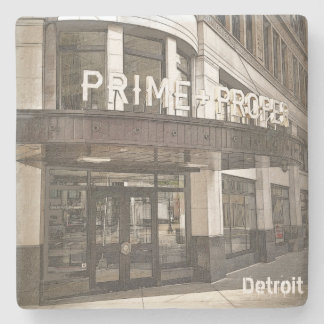 Detroit - Griswold and State (Steak) Stone Coaster