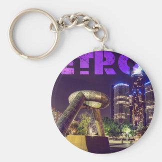 Detroit Hart Plaza Basic Round Button Key Ring