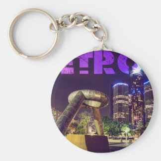 Detroit Hart Plaza Key Ring