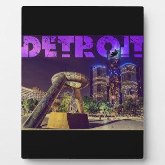 Detroit Hart Plaza Plaque