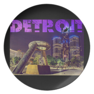 Detroit Hart Plaza Plate