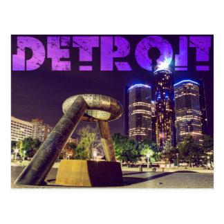 Detroit Hart Plaza Postcard